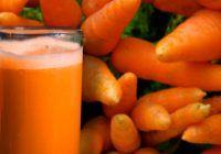 Sucul de morcovi conține proteine, fier, calciu, potasiu