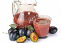 Sucul de prune e bogat in fier