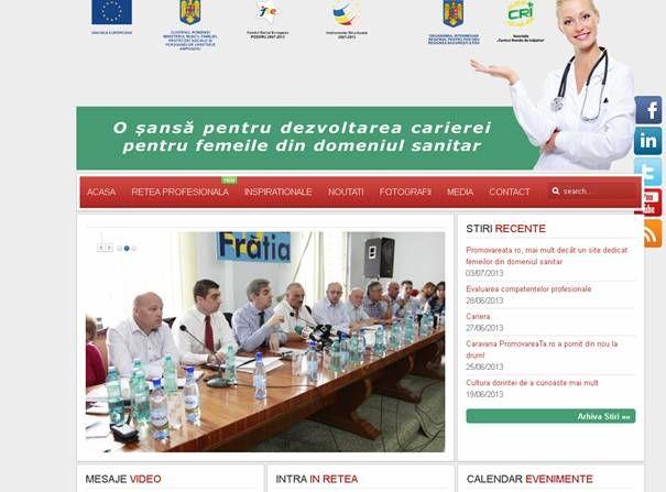 A fost lansat  un site dedicat femeilor din domeniul sanitar