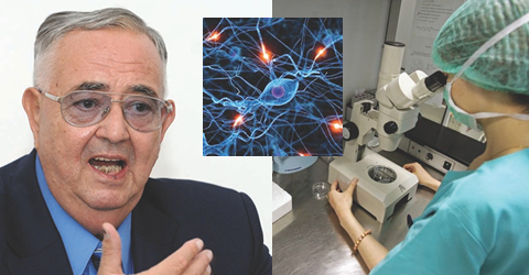 Academicianul L.M. Popescu, coordonatorul echipei de cercetători care a descoperit telocitele