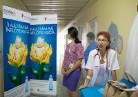 Dr. Gabriela Dumitru, la primirea donației de la Dorna și Salvați Copiii