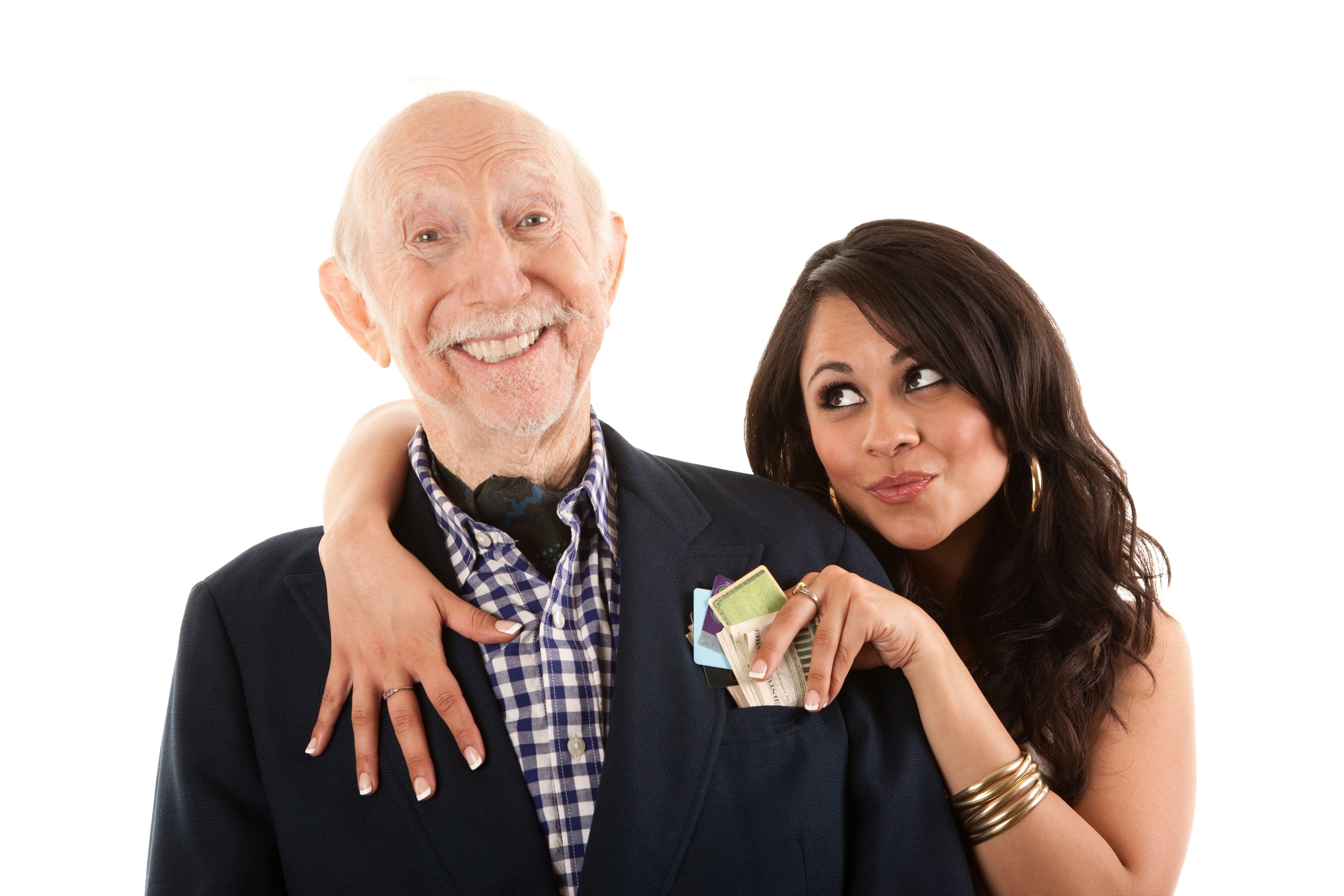 Чтобы сделать, старик и девушка смешные картинки