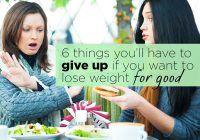 La ce trebuie să renunți dacă vrei să slăbești
