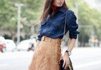 Trendul toamnei – fusta din piele întoarsă