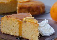 Delicioasă și cu puține calorii. Prăjitură cu portocale fără făină și fără zahăr