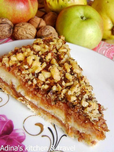 Prăjitură cu mere și nuci, rapid de preparat