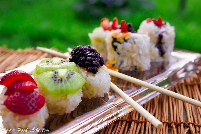 Desertul japonez care le menține în formă – sushi cu fructe. Cum îl prepari?