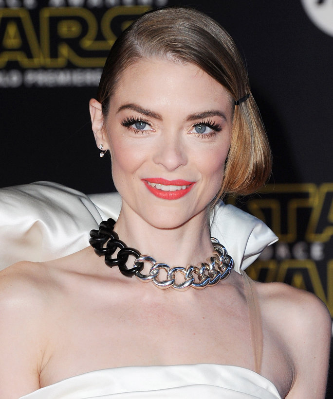 "HOLLYWOOD, CA - DECEMBER 14:  Actress Jaime King arrives at the Los Angeles Premiere ""Star Wars: The Force Awakens"" on December 14, 2015 in Hollywood, California.  (Photo by Jon Kopaloff/FilmMagic)"