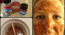 Masca de față care vindecă cicatricile și petele