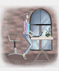 Lasă scaunul și încearcă să lucrezi încordându-ți mușchii