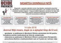 Birocrația ucide pacienții! Domnul Niță a murit după ce a dat statul în judecată pentru a-și primi medicamentele