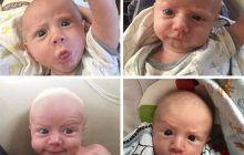 Cel mai expresiv bebeluș. Nu e greu să-ți dai seama când e vesel, plictisit sau nervos