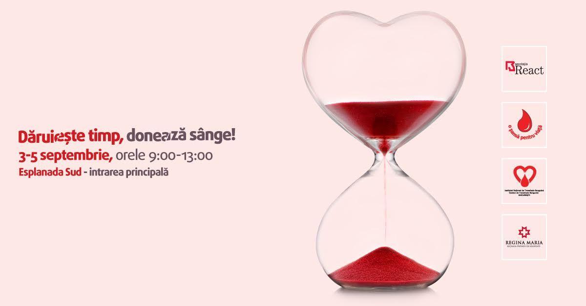 Salvează o viață. Dăruiește timp, donează sânge!