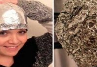Truc fascinant: Si-a pus folie de aluminiu pe cap dupa ce s-a spalat si a uimit hair stilystii din intreaga lume
