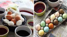 Cum să vopsiți ouăle natural, cu doar câteva ingrediente din bucătărie