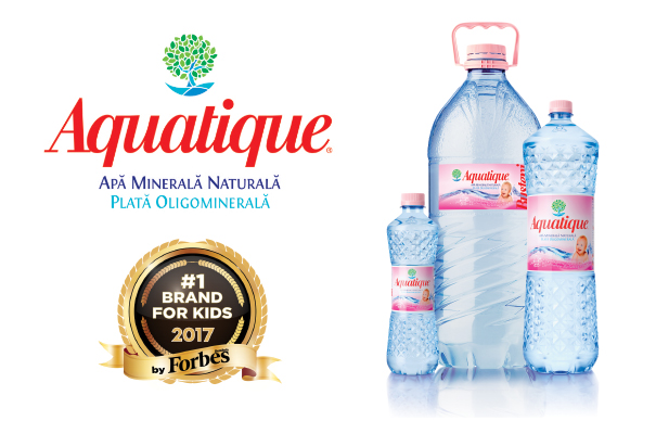 Aquatique, cea mai bună apă minerală plată pentru sugari și copii mici (P)