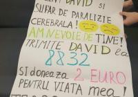 David suferă de paralizie cerebrală! Are mare nevoie de noi! (Video)