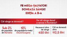 Salvează o viață! Fii și tu un mega-salvator! Donează sânge! Centrul de Transfuzie Sanguină București inițiază o campanie de DONARE de sânge la mall