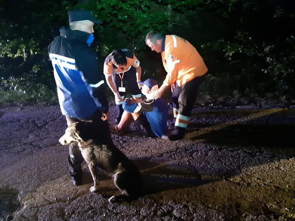 Cățelul EROU. Patrupedul a salvat un turist în Munții Semenic, poveste care pare desprinsă din FILME