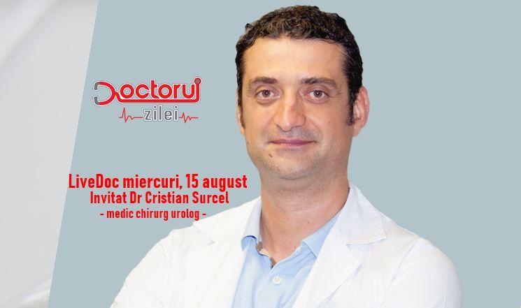 """LiveDoc cu dr. Cristian Surcel, medic chirurg urolog. Sunt toți bărbații """"condamnați"""" să aibă probleme cu prostata?"""