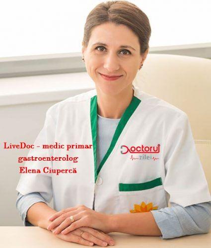 LiveDoc cu medic primar gastroenterolog Elena Ciupercă. Ce este boala de reflux gastroesofagian și cum se transmite bacteria Helicobacter pylori