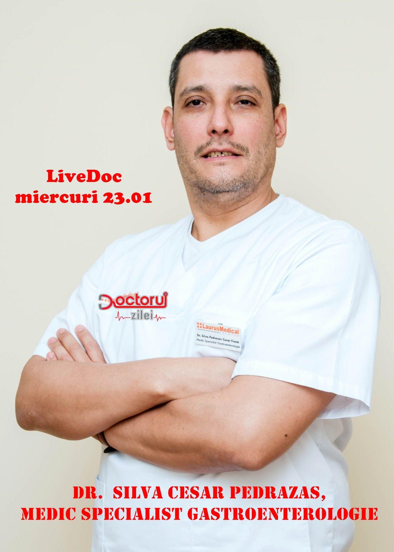 LiveDoc cu dr. Silva Cesar Pedrazas. Ce este colonoscopia, procedura medicală care îți poate salva viața