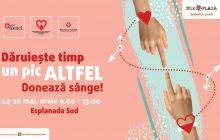 Vino și salvează o viață! Donează sânge în perioada 24 – 26 mai la mall. Cu o singură donare poți salva trei vieți omenești