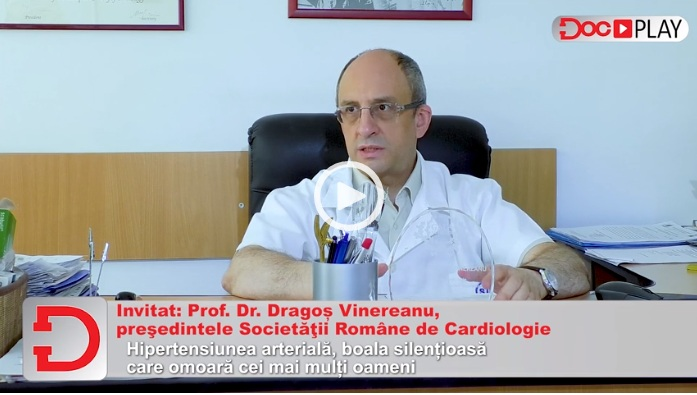 """DocPlay. Prof. Dr. Dragoș Vinereanu: """"În cel mai fericit caz, când nu tratezi hipertensiunea, mori subit. În cazurile cele mai rele..."""""""