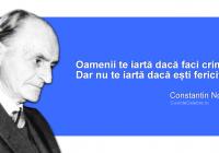 """Cele mai frumoase citate ale lui Constantin Noica, la 110 ani de la nașterea scriitorului: """"Când mă laudă cineva, mă cuprinde panica: dacă ar afla tot ce nu ştiu, tot ce nu sunt?"""""""