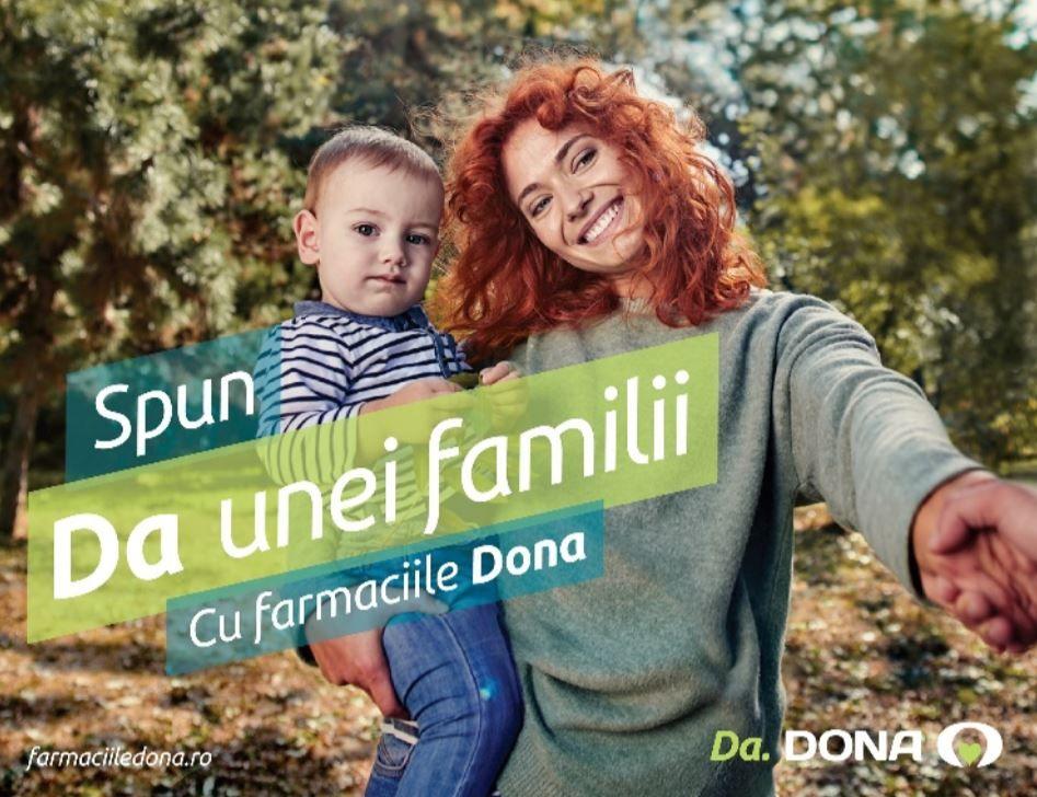 Da, Dona. Mesajul cu care își întâmpină clienții Farmaciile Dona, toamna aceasta