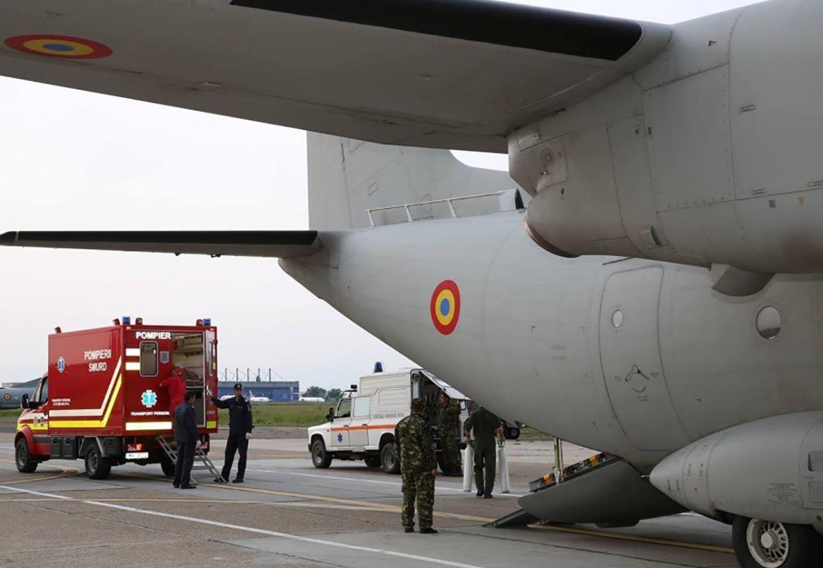 Forțele Aeriene Române. Două aeronave ale MApN a transportat astăzi trei persoane cu arsuri grave